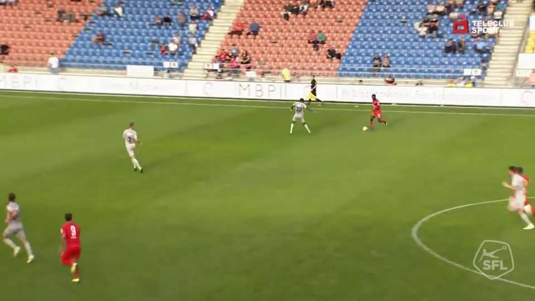 Challenge League 2019/20, 9. Runde: FC Vaduz - FC Aarau,  87. Minute