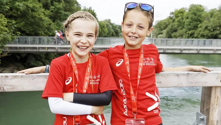 Lila (10) und Enea (10) aus Biasca TI