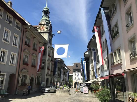 Fahnen in der Altstadt