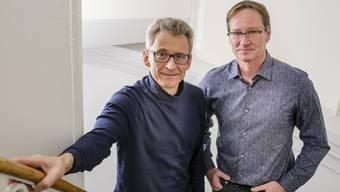 Franziskus Theurillat (l.) und Hans-Georg Hofmann vom SOB.
