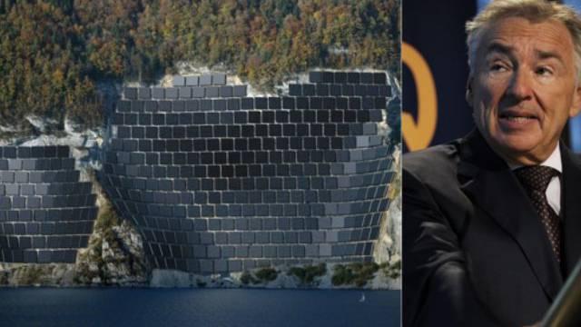 Geplante Photovoltaik-Anlage im Steinbruch Schnuer in der Nähe von Quinten, Alpiq-Interimschef Hans Schweickardt