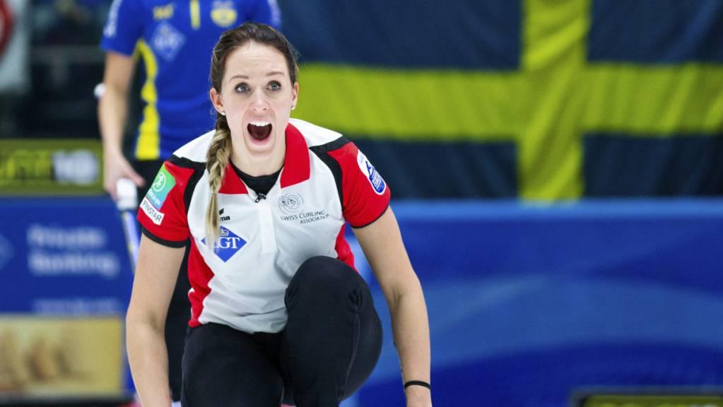 Melanie Barbezat auf der ersten Position im Element.
