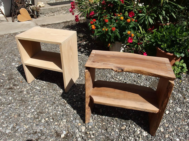 Ein mögliches Endprodukt: das handgemachte Nachttischli aus Naturholz