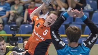 Manuel Liniger setzte sich mit Kadetten Schaffhausen im Cupfinal gegen St. Otmar St. Gallen durch