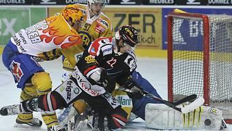 Fribourg und Davos spielten um die Tabellenführung.