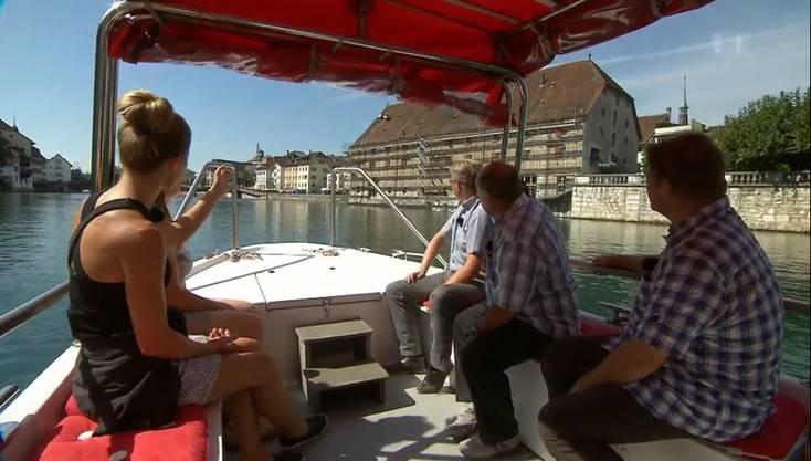 Solothurn - In einem Boot gehts stromaufwärts