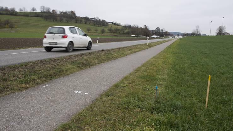 Hauptstrasse und Veloweg werden zwischen Seengen und Egliswil verbreitert, 25. November 2016.