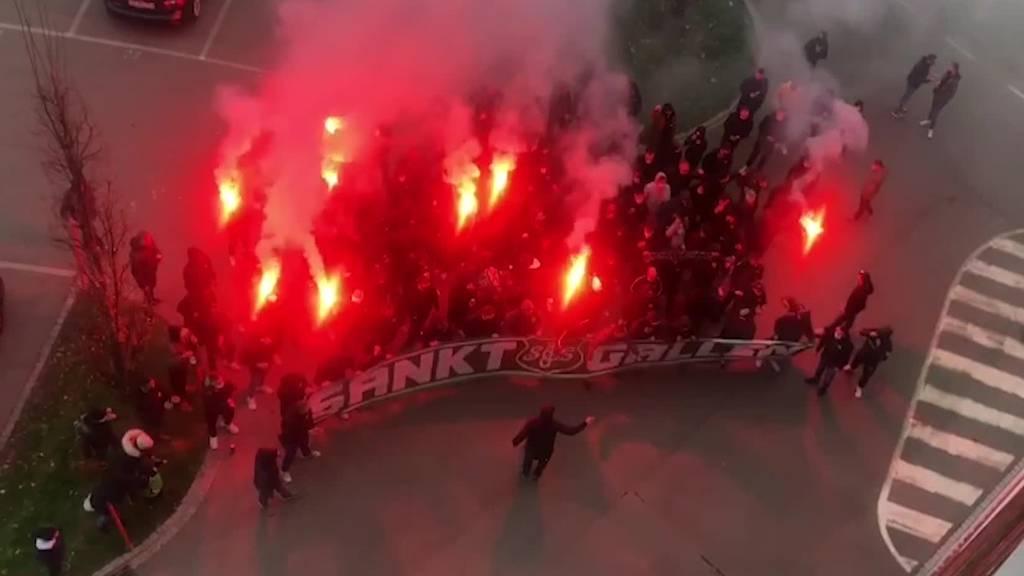 So heizten die Fans des FCSG vor dem Spiel gegen FCZ ein