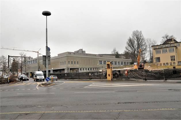 Die Gebäude der Garage Rebmann verschwanden in den letzten Wochen.Ueli Wild