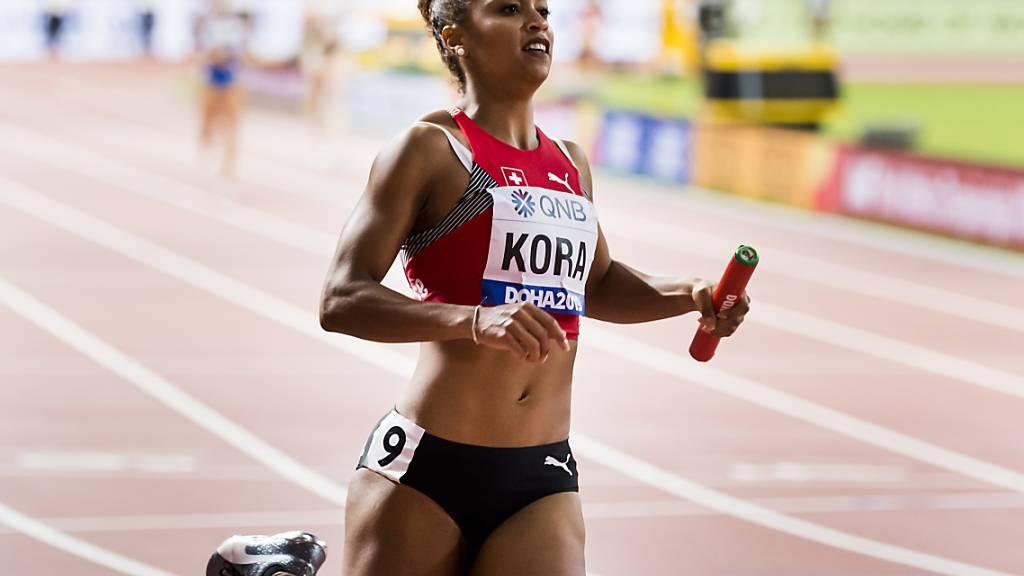 Salomé Kora lief mit der 4x100 m Staffel sicher in den Final