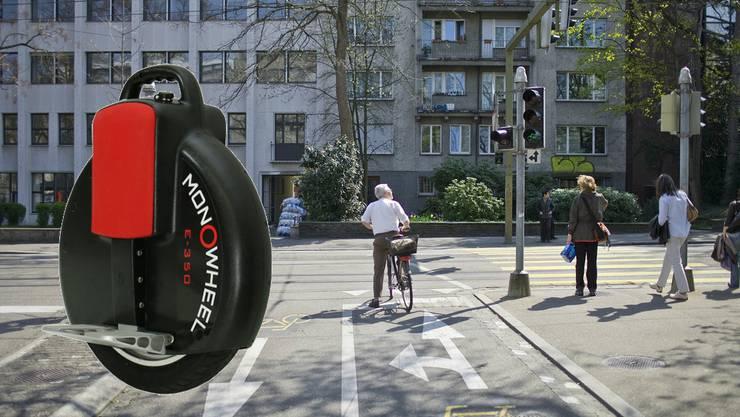 Wer mit einem Solowheel auf öffentlichen Strassen fährt, riskiert eine Busse.