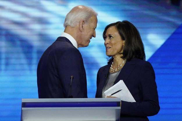 Bei der ersten TV-Debatte der demokratischen Präsidentschaftskandidaten lieferten sich Joe Biden und Kamala Harris 2019 hitzige Debatten.