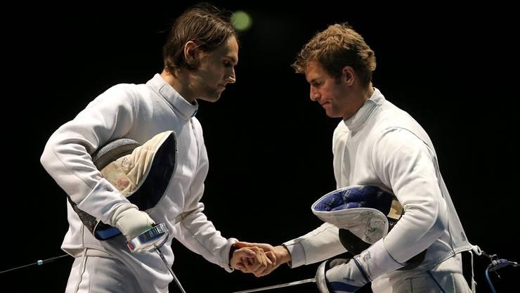 Benjamin Steffen (rechts) ordnet dem Erfolg alles unter. Keystone