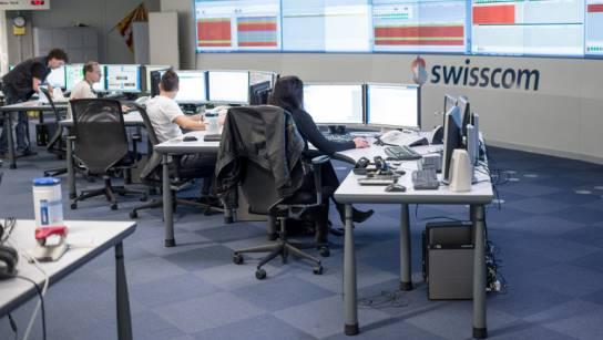 Swisscom-Mitarbeiter in Zürich (Archiv)