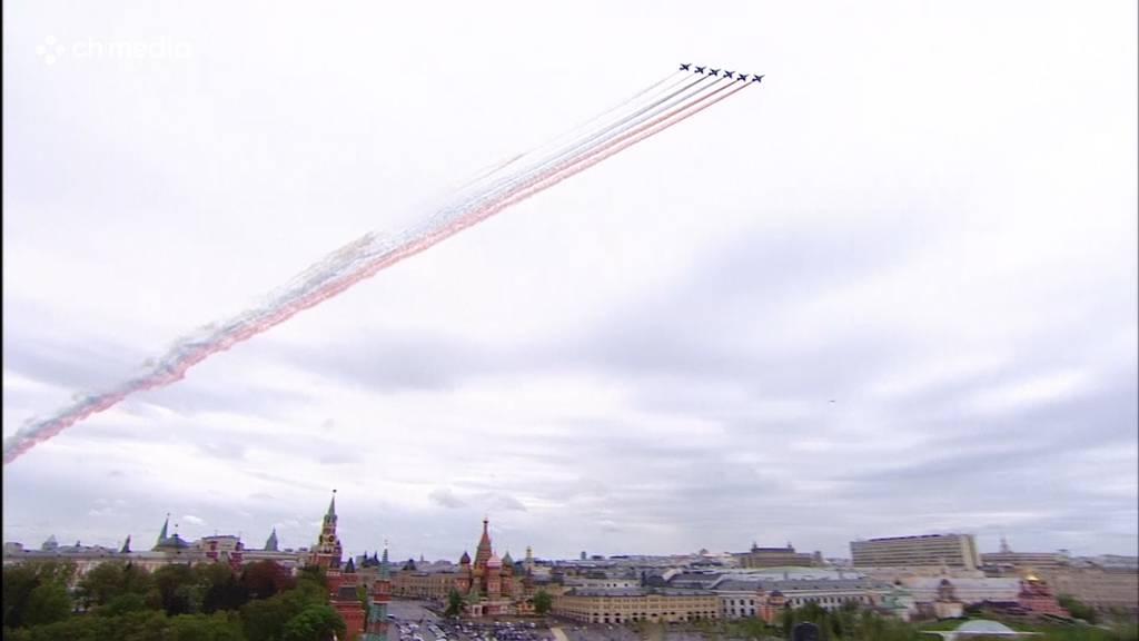 Leere Strassen und 75 Flugzeuge statt Militärparade