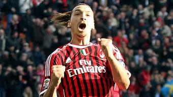 Zlatan Ibrahimovic machte in der 65. Minute für Milan alles klar.