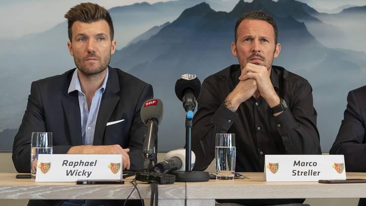 Raphael Wicky und Marco Streller haben beide ihre erste Saison als Trainer respektive Sportchef der ersten Mannschaft des FC Basel hinter sich.