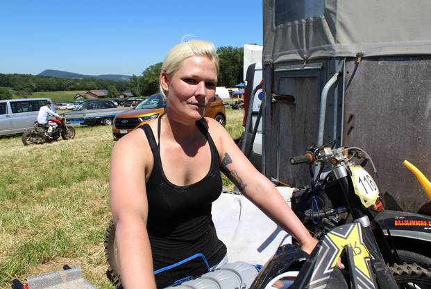 Jessica Weder, einzige Frau im Fahrerfeld.