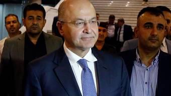 Nach wochenlangem politischen Patt hat der irakische Präsident Barham Salih seine Bereitschaft zum Rücktritt erklärt. Der kurdische Politiker war erst im Oktober 2018 vom Parlament zum Staatschef gewählt worden. (Archivbild)
