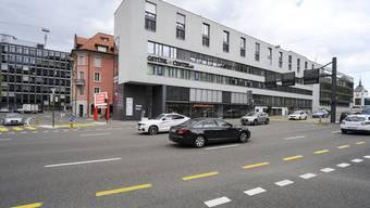 Kreuzung Stühl in Baden. Hier soll der Blechpolizist aufgebaut werden.