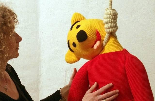 Winnie the Pooh am Galgen