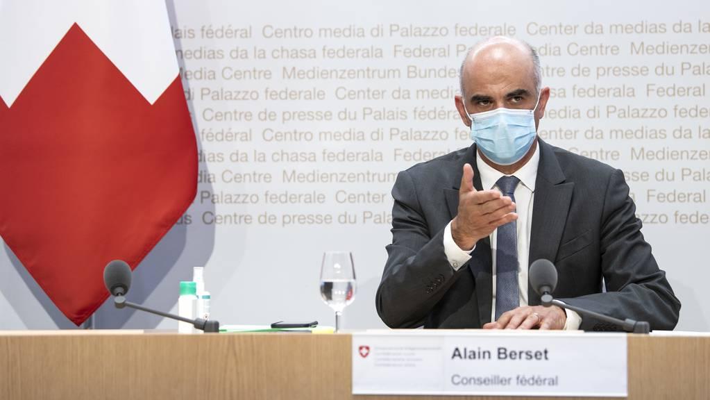 Bundesrat Alain Berset verkündete am Mittwoch noch schnellere Lockerungen als angekündigt.