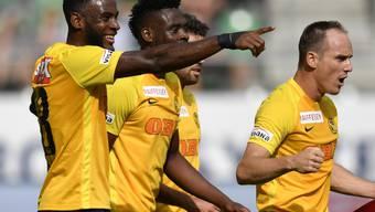 YB darf sich gegen St. Gallen dank einem Treffer in der Nachspielzeit über einen Punktgewinn freuen