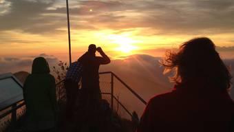 Aussicht und Stimmung waren «einfach herrlich»: Tobias Eggimann von Baselland Tourismus über eine Wanderung auf die Belchenfluh.Tobias Eggimann