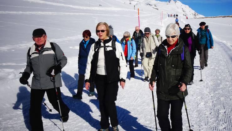 Rücktritt als Wanderleiterin nach 16 Jahren: Marion Schlatter (Mitte)