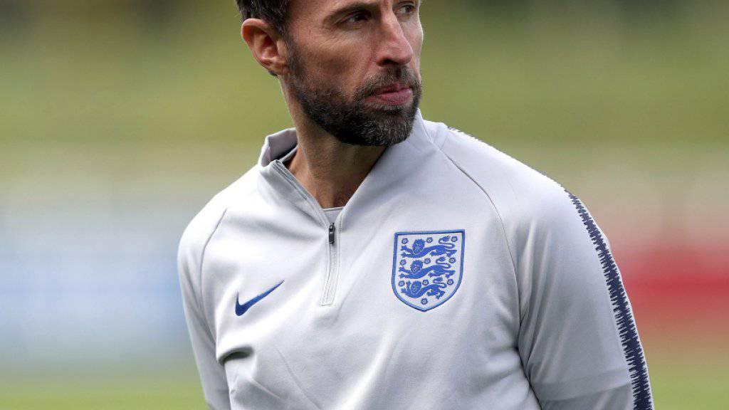 Englands Teamchef Gareth Southgate vor dem Spiel gegen die Schweiz