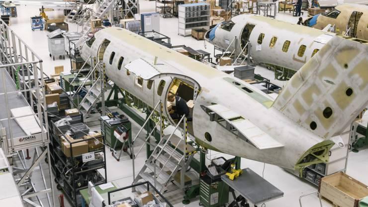 Der Hauptfokus lag 2017 beim Aufbau der Serienproduktion des neuen Düsenflugzeuges PC-24.