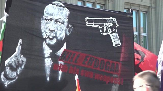 Berner Plakat macht türkischen Präsidenten sauer