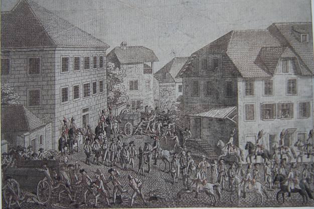 1798 wurden die Patrioten durch die Franzosen von der Lynchjustiz der Solothurner bewahrt.