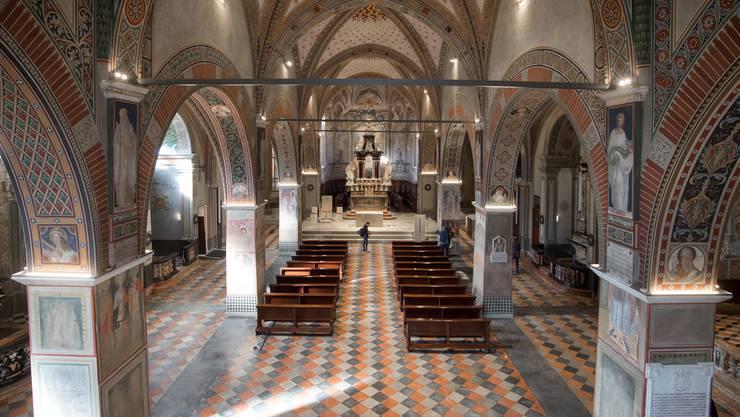 Der Bischofssitz in Lugano: Im Bistum Lugano hatte der inzwischen wieder freigelassene Geistliche zahlreiche hohe Ämter bekleidet.