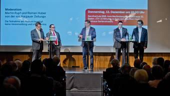 Badens Stadtammann-Kandidaten am Podium