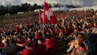 Bei der Eröffnungsfeier kamen alle 45 000 Teilnehmerinnen und Teilnehmer des World Scout Jamboree zusammen. Darunter auch viele Pfadfinder aus der Schweiz.