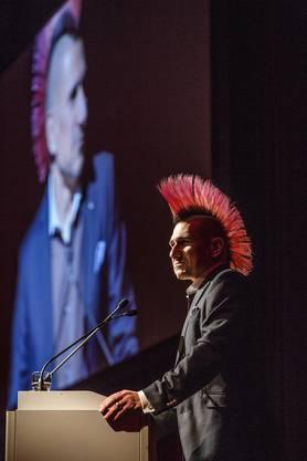Satiriker Andreas Thiel hielt die Eröffnungs- und Schlussrede
