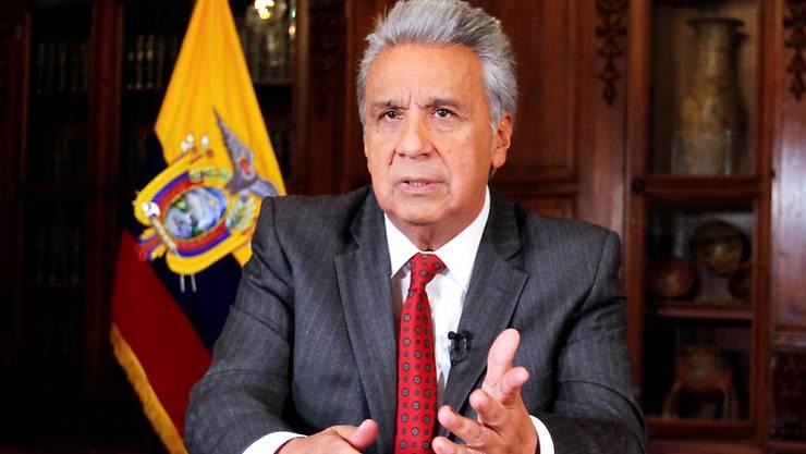 Ecuadors Präsident Lenín Moreno hat am Montag (Ortszeit) aufgrund der Ausschreitungen in der Hauptstadt Quito seinen Regierungssitz nach Guayaquil verlagert. (Archivbild)