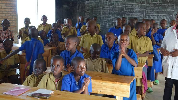 Ein Privileg, zur Schule gehen zu dürfen, und diese Kinder wissen offenbar darum.