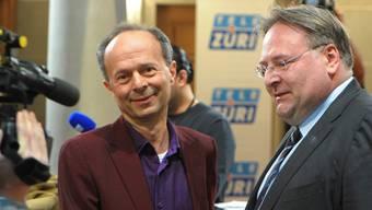 Im ersten Wahlgang trennten sie nur 2000 Stimmen voneinander: Der zweitplatzierte Richard Wolff (l.) und Sitzverteidiger Marco Camin