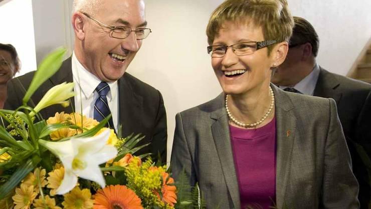 Isaac Reber und Sabine Pegoraro nach der Wahl