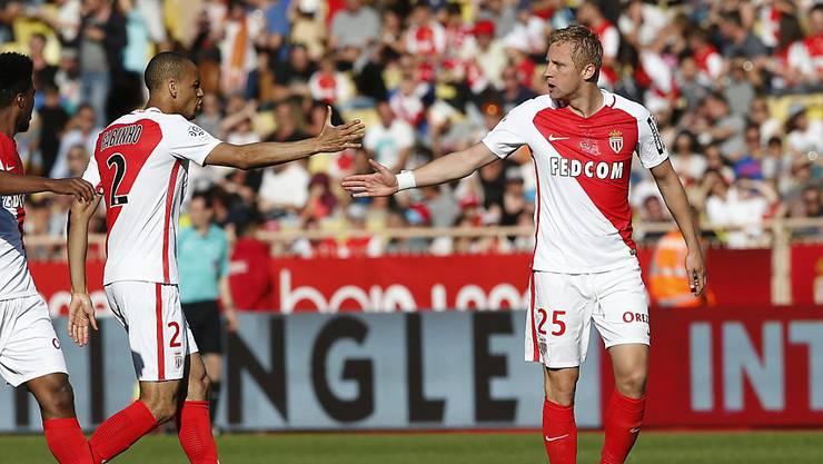 Monaco-Abwehrchef Kamil Glik (rechts) nach seinem Tor gegen Toulouse