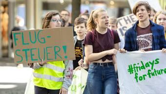 Aktivistinnen und Aktivisten hielten ihre Schilder am Sonntag für einmal nicht in die Luft, sondern vor die Bildschirme.