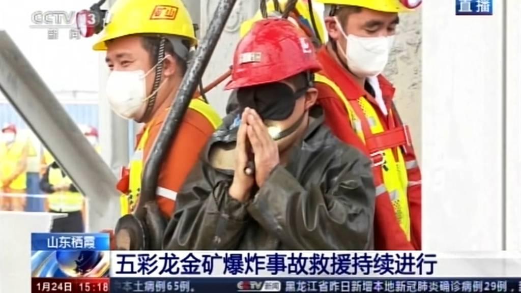 Nach zwei Wochen: Elf verschüttete Bergarbeiter in China gerettet