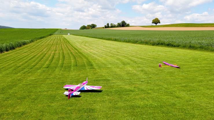 Um dieses Stück Land dreht sich die Bettwiler Modellflugzeug-Debatte.