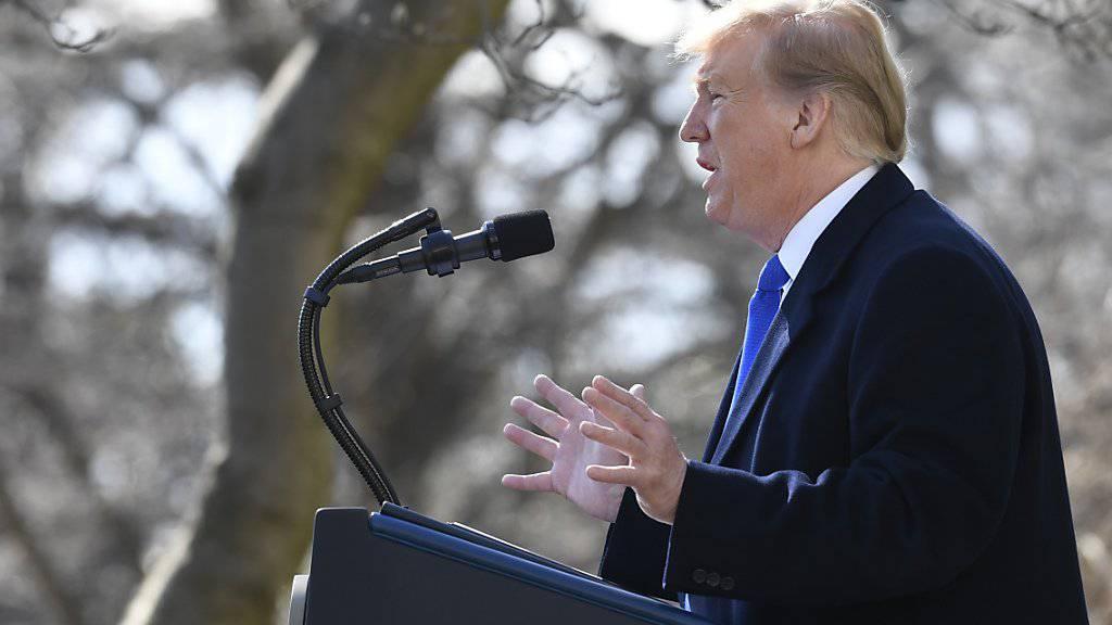 Die Notstandserklärung ist für US-Präsident Donald Trump «eine grossartige Sache».