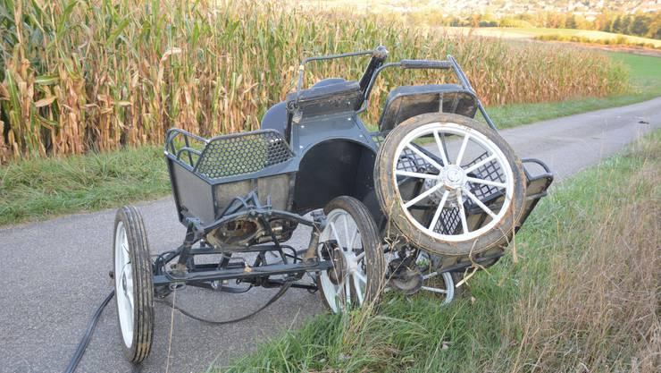 Mit einem Pferdefuhrwerk baute am Samstag eine Kutschenführerin einen Unfall.
