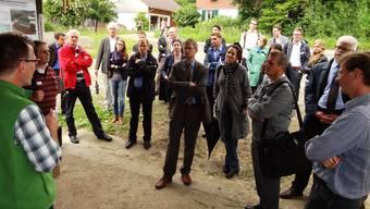 Informationsvermittlung am FiBL in Frick, hier im Sommer 2012 für die Bundeshausfraktion der Grünliberalen Partei (GLP) der Schweiz. chr