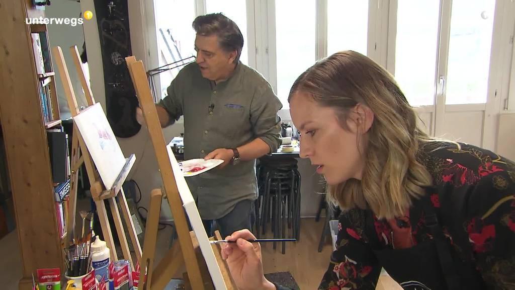 Ihre erste Unterwegs-Sendung führt Sara Wicki in die Kunstwelt