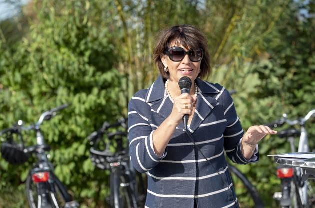Hofft auf ein Ja: Bundesrätin Doris Leuthard wirbt für den «Bundesbeschluss Velo».